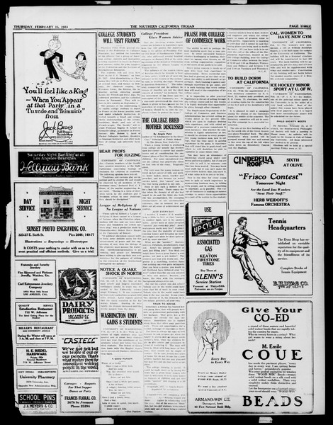 The Southern California Trojan, Vol. 14, No. 55, February 15, 1923