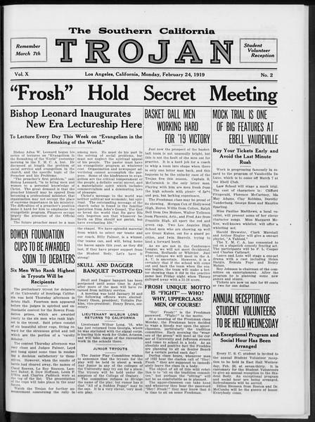 The Southern California Trojan, Vol. 10, No. 2, February 24, 1919