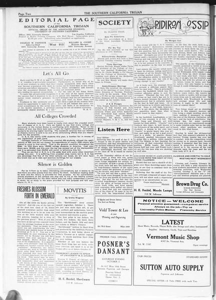 The Southern California Trojan, Vol. 12, No. 5, October 01, 1920