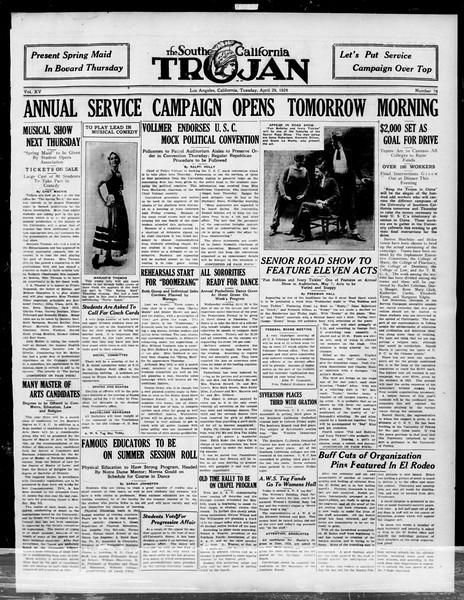 The Southern California Trojan, Vol. 15, No. 75, April 22, 1924