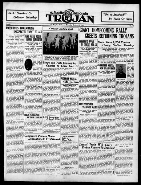 The Southern California Trojan, Vol. 15, No. 14, October 25, 1923