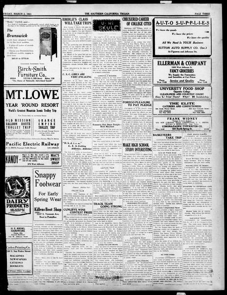The Southern California Trojan, Vol. 14, No. 63, March 02, 1923