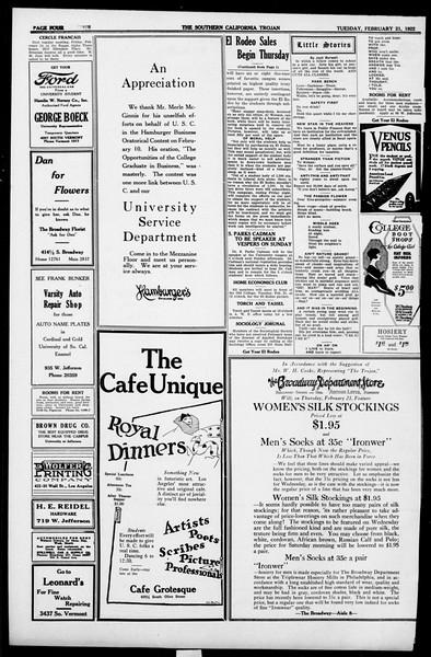 The Southern California Trojan, Vol. 13, No. 46, February 21, 1922