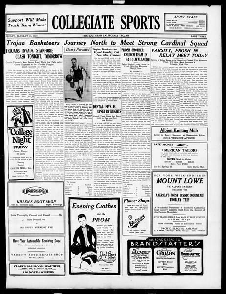 The Southern California Trojan, Vol. 15, No. 45, January 25, 1924