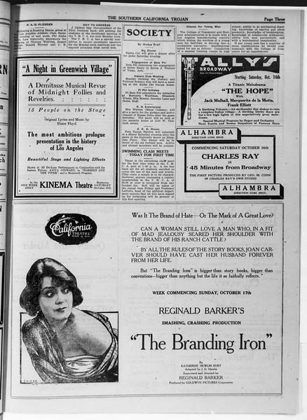 The Southern California Trojan, Vol. 12, No. 13, October 15, 1920