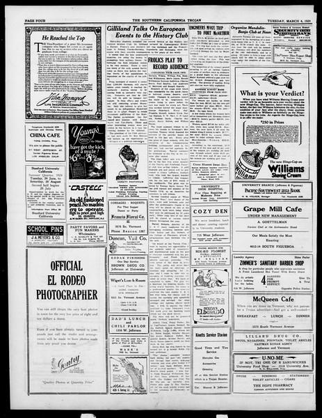 The Southern California Trojan, Vol. 15, No. 57, March 04, 1924