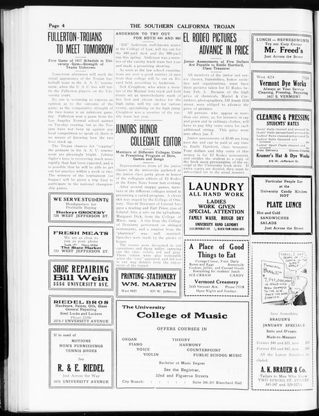 The Southern California Trojan, Vol. 8, No. 57, January 18, 1917