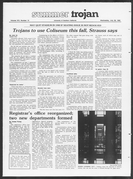 Summer Trojan, Vol. 91, No. 15, July 28, 1982