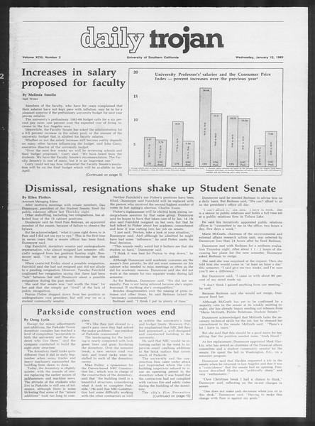 Daily Trojan, Vol. 93, No. 2, January 12, 1983