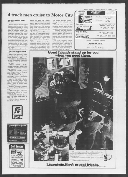 Daily Trojan, Vol. 91, No. 41, March 12, 1982