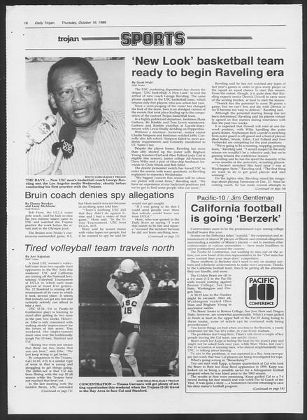 Daily Trojan, Vol. 102, No. 33, October 16, 1986