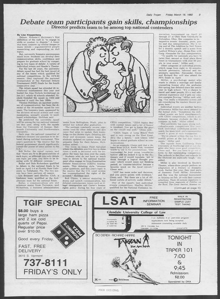 Daily Trojan, Vol. 91, No. 46, March 19, 1982