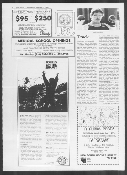 Daily Trojan, Vol. 93, No. 29, February 23, 1983