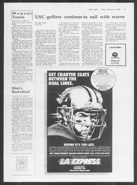 Daily Trojan, Vol. 93, No. 28, February 18, 1983