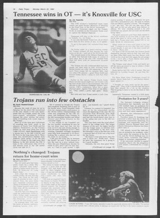 Daily Trojan, Vol. 91, No. 47, March 22, 1982