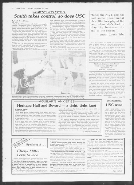 Daily Trojan, Vol. 92, No. 63, December 10, 1982