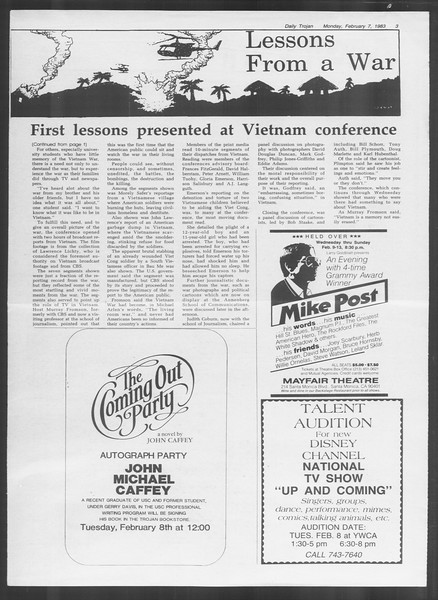 Daily Trojan, Vol. 93, No. 19, February 07, 1983