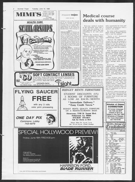 Summer Trojan, Vol. 91, No. 6, June 15, 1982