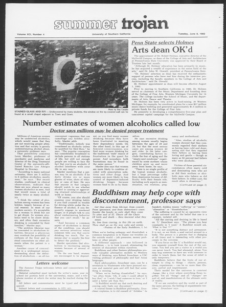 Summer Trojan, Vol. 91, No. 4, June 08, 1982