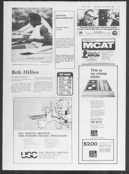 Daily Trojan, Vol. 93, No. 11, January 26, 1983