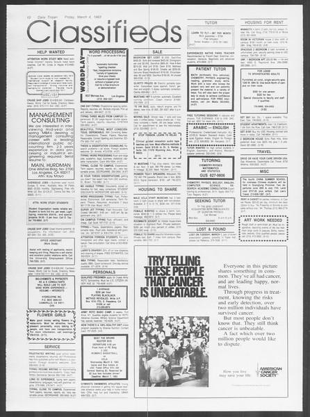 Daily Trojan, Vol. 93, No. 37, March 07, 1983
