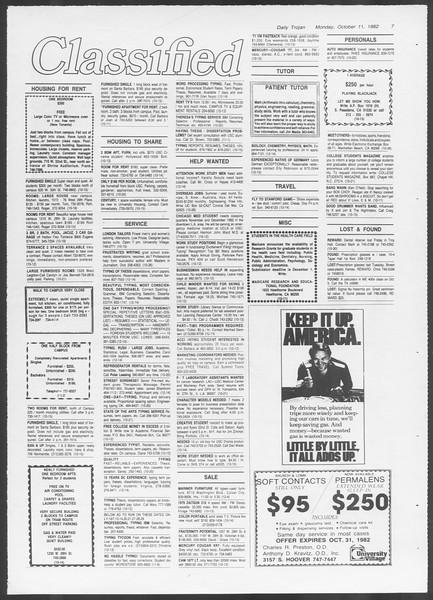 Daily Trojan, Vol. 92, No. 25, October 11, 1982