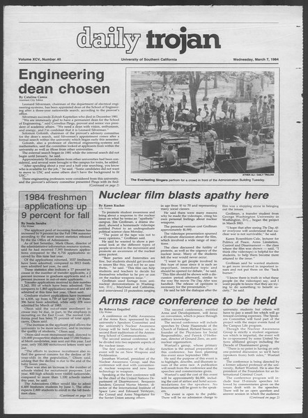 Daily Trojan, Vol. 95, No. 40, March 07, 1984