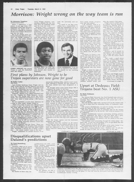 Daily Trojan, Vol. 93, No. 38, March 08, 1983