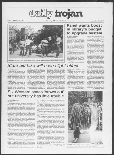 Daily Trojan, Vol. 95, No. 37, March 02, 1984