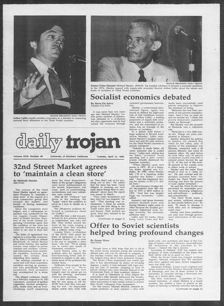 Daily Trojan, Vol. 93, No. 56, April 12, 1983