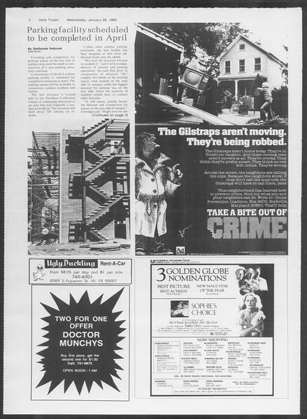 Daily Trojan, Vol. 93, No. 11, January 26, 1983