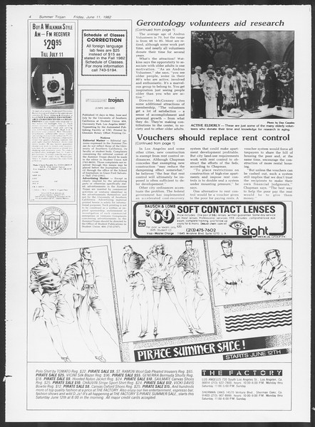 Summer Trojan, Vol. 91, No. 5, June 11, 1982