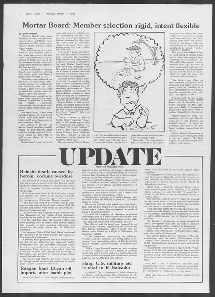 Daily Trojan, Vol. 91, No. 40, March 11, 1982