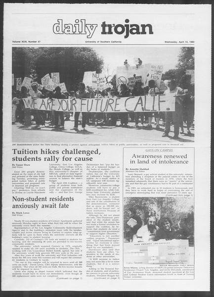 Daily Trojan, Vol. 93, No. 57, April 13, 1983