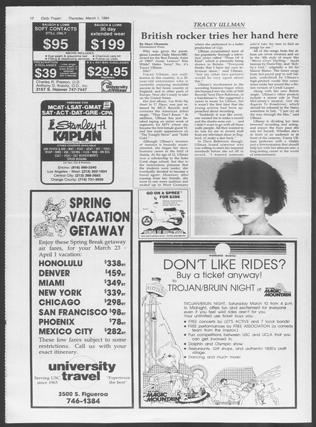 Daily Trojan, Vol. 95, No. 36, March 01, 1984