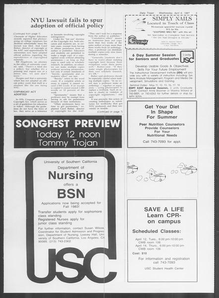Daily Trojan, Vol. 93, No. 52, April 06, 1983