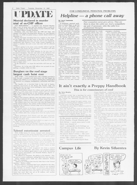 Daily Trojan, Vol. 92, No. 65, December 14, 1982