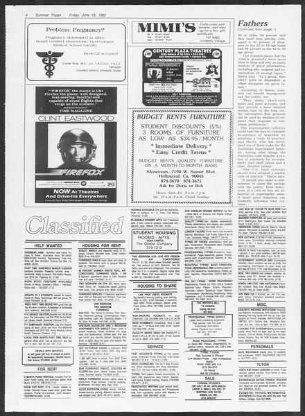 Summer Trojan, Vol. 91, No. 7, June 18, 1982