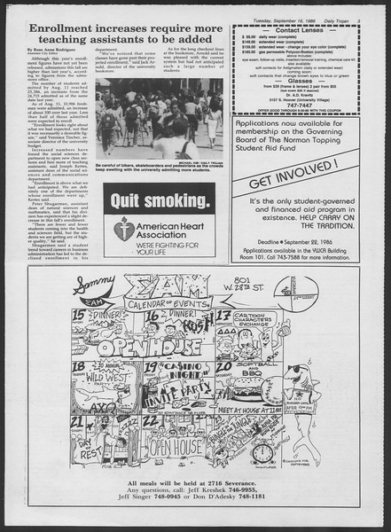 Daily Trojan, Vol. 102, No. 11, September 16, 1986
