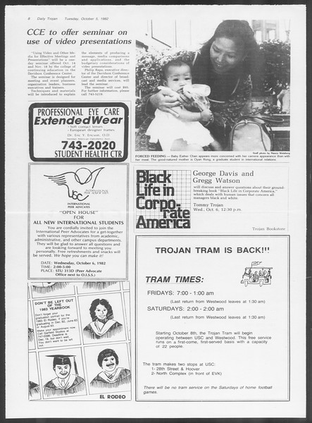 Daily Trojan, Vol. 92, No. 21, October 05, 1982