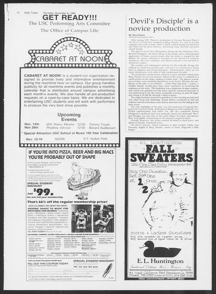 Daily Trojan, Vol. 97, No. 47, November 08, 1984