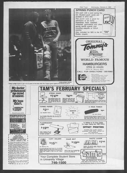 Daily Trojan, Vol. 95, No. 22, February 08, 1984