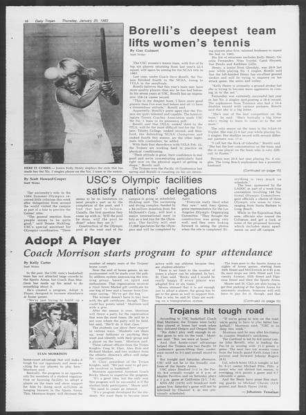 Daily Trojan, Vol. 93, No. 8, January 20, 1983