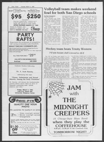 Daily Trojan, Vol. 91, No. 33, March 02, 1982