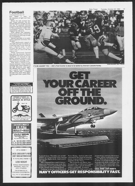 Daily Trojan, Vol. 97, No. 36, October 23, 1984