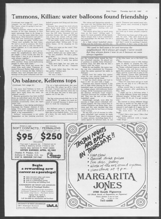 Daily Trojan, Vol. 91, No. 64, April 22, 1982