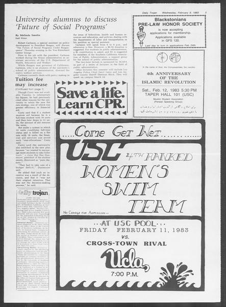 Daily Trojan, Vol. 93, No. 21, February 09, 1983
