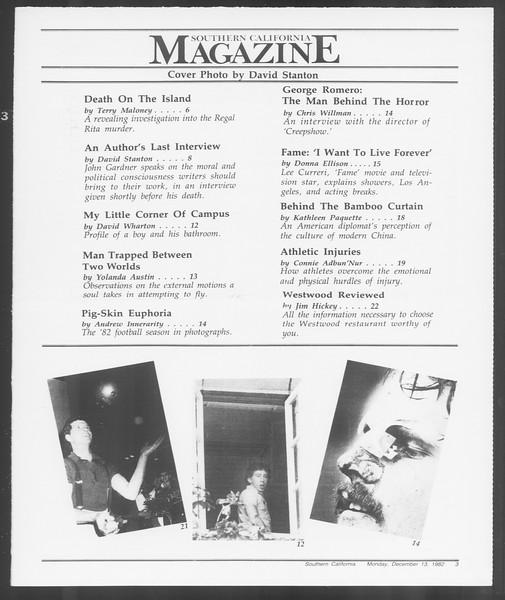 Southern California Magazine, Vol. 92, No. 64, December 13, 1982