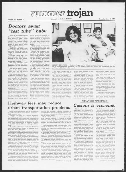 Summer Trojan, Vol. 91, No. 3, June 04, 1982