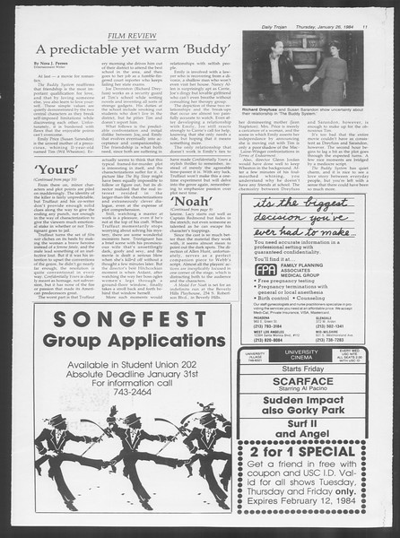Daily Trojan, Vol. 95, No. 13, January 26, 1984